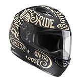 HJC Casque Moto CS 15 Rebel MC9F, Noir/Or, Taille M