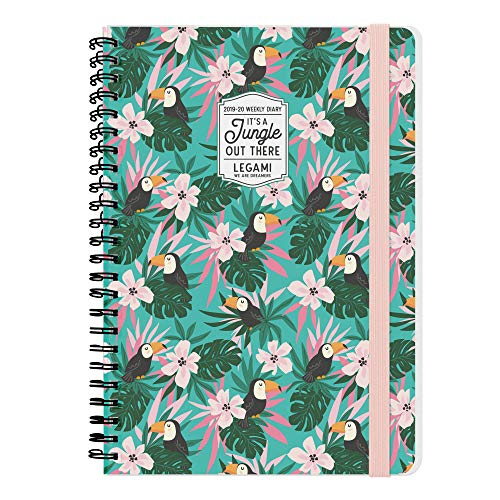 LARGE WEEKLY DIARY SPIRAL BOUND 16 MONTH 2019/2020 - TOUCANS