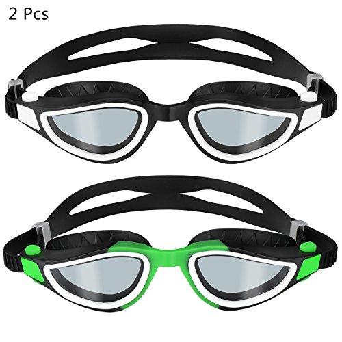 2 Pcs Gafas de Natación de Omorc, Gafas Natación con Protección UV,