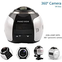 4 K 360 Action Kamera 2448 * 2448 Ultra HD Panorama 360 Grad Video Kameras WiFi Sport fahren VR Kamera