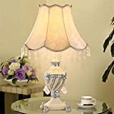 Vintage tallado resina resina mesa lámpara lámpara de noche dormitorio clásico moda Europea caliente decorativos lámpara de mesa