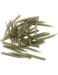 jshanmei® carpa pesca accesorios antienredos mangas conexión gancho para la pesca de carpas 70% duro aparejos de pesca de carpas, Length-40MM, 100pcs
