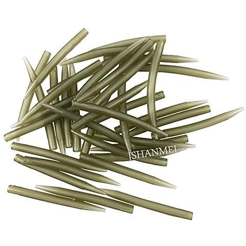 jshanmei® Karpfenangeln Zubehör Anti Tangle Sleeves Connect Haken für Karpfen 70% Hard Karpfenangeln Tackle, Length-40MM, 100pcs