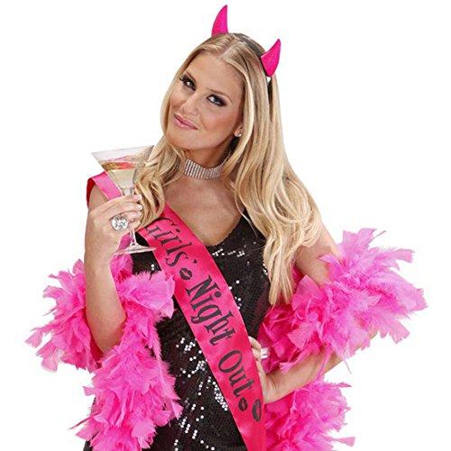 Junggesellinnenabschied Haarreif am Haarreifen Pinke Teufelhörner Teufelshörner JGA Karnevalskostüme Zubehör Sexy Hochzeit Braut Accessoire Junggesellenabschied Kopfschmuck (Sexy Teufel Hörner)