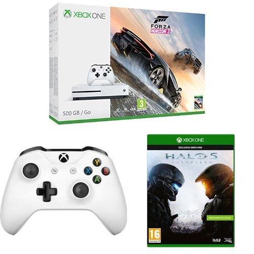 Xbox One S 500GB + Forza Horizon 3 + Controller + Halo 5