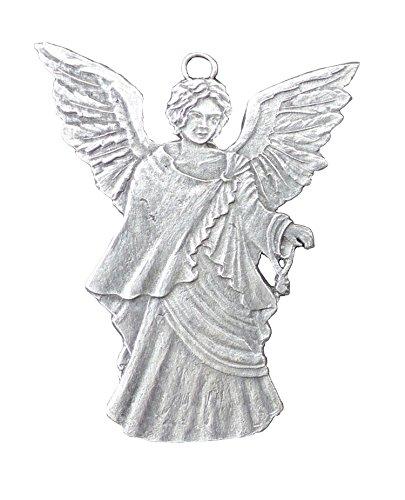 Engel Beidseitig von Hand patiniert als Zinnfigur, Baumbehang, Weihnachtsanhänger, Weihnachtlicher Zierschmuck