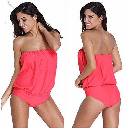freizeit - strand - bikini, groß badeanzug m rot