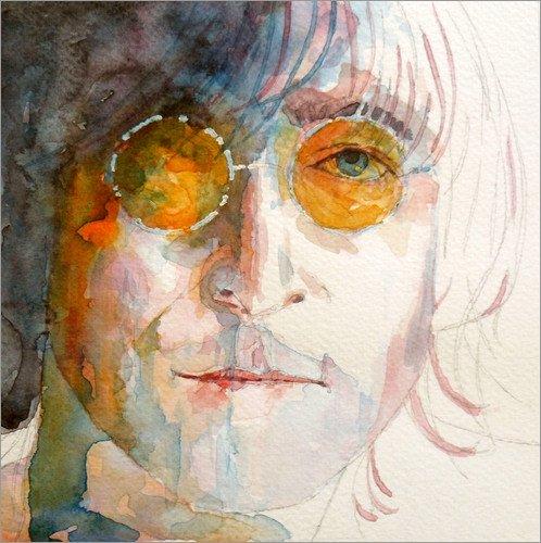 Poster 20 x 20 cm: John Winston Lennon di Paul Paul Lovering Arts - stampa artistica professionale, nuovo poster artistico