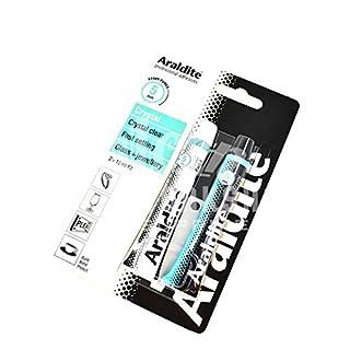 ARALDITE® TWO PART EPOXY 2 x 15ml CRYSTAL TUBES GLASS JEWELLERY GLUE ADHESIVE