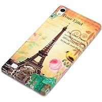 deinPhone Huawei Ascend P6 SILIKON CASE Hülle Eiffelturm Rosa Blume