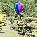 Windspiel - Satorn Balloon TWISTER - wetterbeständig - Ballon:Ø23cm x 37cm, Spirale: Ø10 cm x 75cm - inklusive kugelgelagerter Aufhängung (Twister) von Colours in Motion - Du und dein Garten