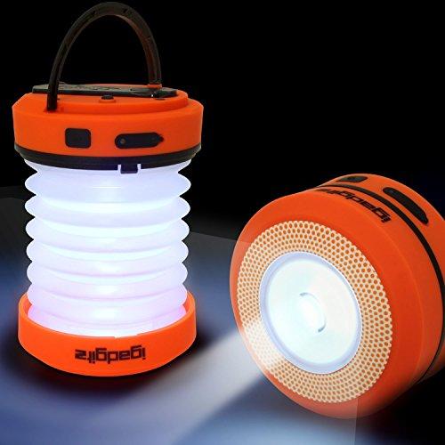 Preisvergleich Produktbild igadgitz Xtra Lumin Umweltfreundlich Dynamo Wiederaufladbare Zusammenklappbare LED Laterne & Taschenlampe + Notfallladegerät mit 3 Jahren Garantie