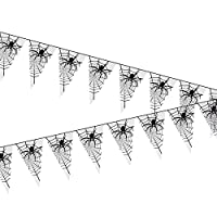6m Long Spiderweb Flagline Banner Semi-transparent Halloween Wall Door House Decorations Party - Day of The Dead Scary Bunting