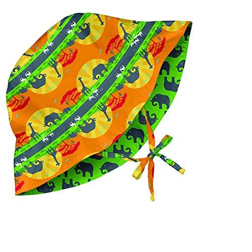 Iplay Baby Wendbarer Sonnenhut / Reversible Sun Protection Hat UV-Schutz 50+ Boys, Orange Safari Sunset ()