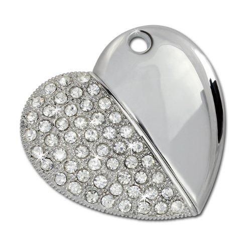 2 Gb Halskette (SilberDream USB Speicher Stick 8GB Herz USBSpeicher Speicherstick AV16)