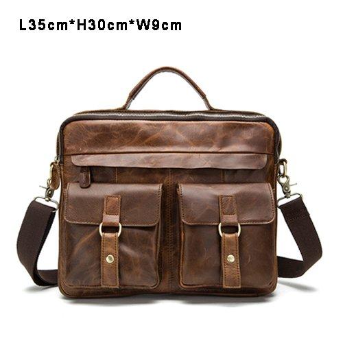 echtes leder - tasche lässig männer handtaschen männer crossbody taschen für männer reisetasche tragen aktentaschen männer taschen laptop rot - braune