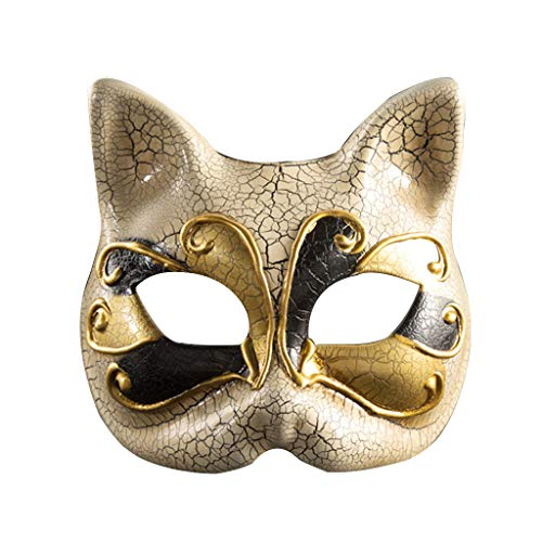 Tarantel Baby Kostüm - HROIJSL Halloween Kindermaske Kinder Maskerade Maske Vintage venezianische Karierte musikalische Party Mardi Cat Maske Halloween Maske Party Kostüm Cosplay Dekoration