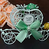Cikuso Caja de Dulces de Regalo Organizador carruaje romantico Caja de Dulces de Chocolate para Flor de Novia de Dama de Honor para la Boda Regalos de Fiesta Azul
