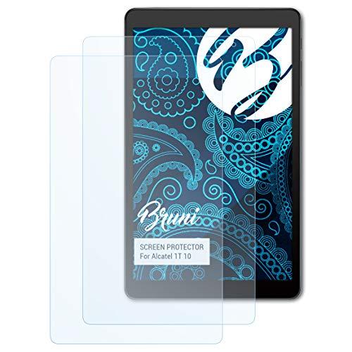 Bruni Schutzfolie für Alcatel 1T 10 Folie, glasklare Bildschirmschutzfolie (2X)