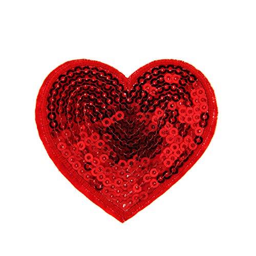 Sweet Deluxe Brosche Herz, rot I ausgefallene Blusenbrosche für Damen & Mädchen I Frauen-Brosche für Abendkleid & Bluse I Anstecknadel
