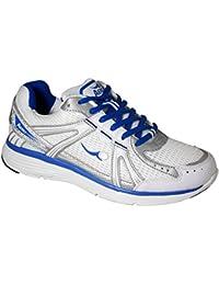 Ladies Aero ComfitPro Sprint Lawn Bowling Shoes White/Blue/Grey