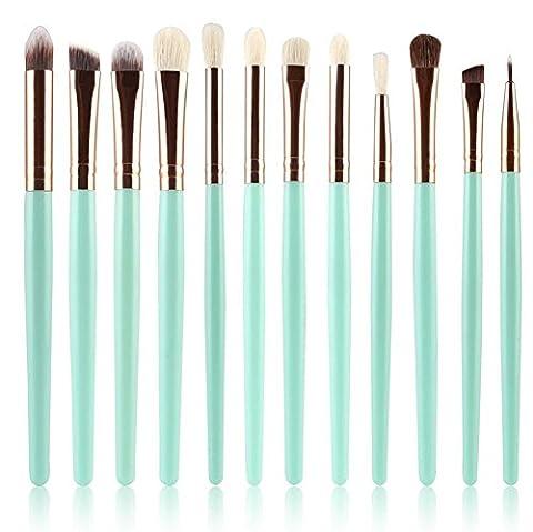 Cdet 12PCS Maquillage pour les yeux Professionnel Teint Eyebrow Shadow Makeup Blush Kit Pinceau Ensemble brosse à maquillage Brosse à maquillage Maquillage