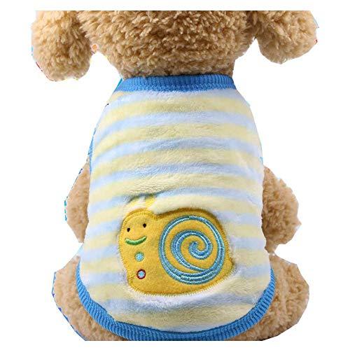 ZTMN Haustier Katze Hund Kleidung Kostüm Shirt, Kätzchen Puppy Jumper Pullover Kostüme Hund Korallen Fleece Tuch Sweatshirts, Adorable tragen stilvolle gemütliche (Farbe: Schnecken, Größe: XL)