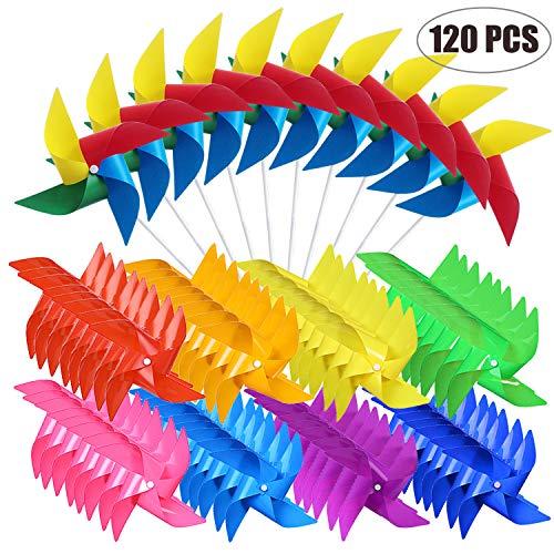 Woohome Molinillos de Arco Iris de Plástico 120 Pz