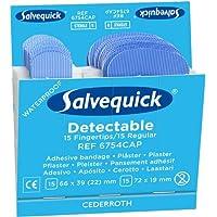 Salvequick Pflaster Blue Detectable REF 6754CAP, 6 x 30 Stück, sortierte Größen, blau (180 Stück) preisvergleich bei billige-tabletten.eu