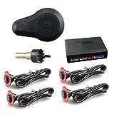 CAR ROVER® Sensores de Aparcamiento Marcha Atras zumbador Alarma con 4 16.5mm UFO Conformado Sensors (Negro)