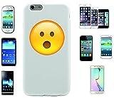 Teléfono Móvil 'cara con abierto la boca' para Apple Samsung- LG- Huawei- Sony- HTC/Teléfono celular tapa para iPhone 4,5,6,7- Galaxy s2,3,4,5,6,7- -- p9- con Smiley- Emoji Sony XPERIA Z 5 Compact