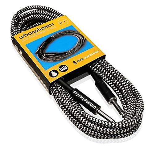 Urbanphonics Professionelles Instrumenten Kabel von Premium-Qualität für die E-Gitarre, Elektro-Akustikgitarre,