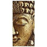 Bilderwelten Raumteiler Top Raumtrenner Vintage Buddha 250x120cm transp. Halterung
