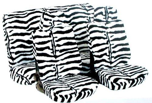 Heimsch - Coprisedili in morbido velluto velboa, per sedili anteriori, fantasia muccata/zebrata/leopardata ...