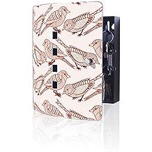 banjado Design Schl/üsselkasten aus Edelstahl 24x21,5cm Motiv Fliegende V/ögel praktischer Magnetverschluss 10 Haken f/ür Schl/üssel