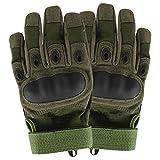 Yihya Militär Superlight Überfall Atmungsaktiv RadfahrenFahrrad Motorrad Stoßfest Gelieren Silikon Vollfinger Handschuhe für Outdoor Sports Polyester und Faser-Material --- army green - L