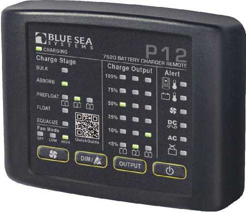 BLUE SEA 7520 P12 LED REMOTE FOR BATTERY CHARGERS Blue Sea Meter