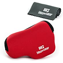 MegaGear ''Ultra Light'' Funda Bolsa Protector Neopreno Cámaras Para Panasonic Lumix DMC‑LX100 (Rojo)