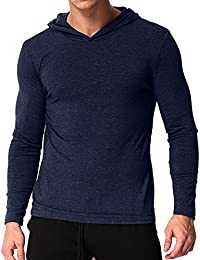 MODCHOK Men's Long Sleeve Hoodie T-Shirts Classic V-Neck Tee Tops Causal Hoodies