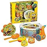 Bob Esponja Grupo Musical Juguete tambor kit Box Set para niños regalo de Navidad