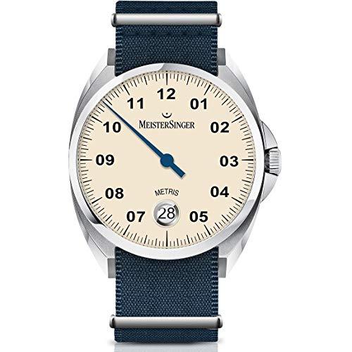 Meistersinger Metris Reloj de Hombre automático 38mm Correa de Nylon ME903