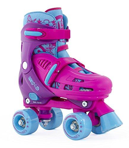 SFR Hurricane Childs Quad Skate - Ajustable Skates Pink/Purple - UK 8J-11J/EU 25.5-29