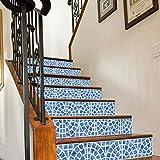Quner Treppe Aufkleber, Nordisches Stil Muster Selbstklebend Wasserdicht DIY Wandtattoo PVC 6 Stück Treppen Abziehbild Dekor Entfernbare Abziehbilder