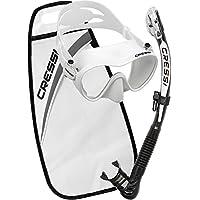 Cressi F1 + Alpha Ultra Dry Packs de Snorkel, Unisex Adulto, Blanco, Uni