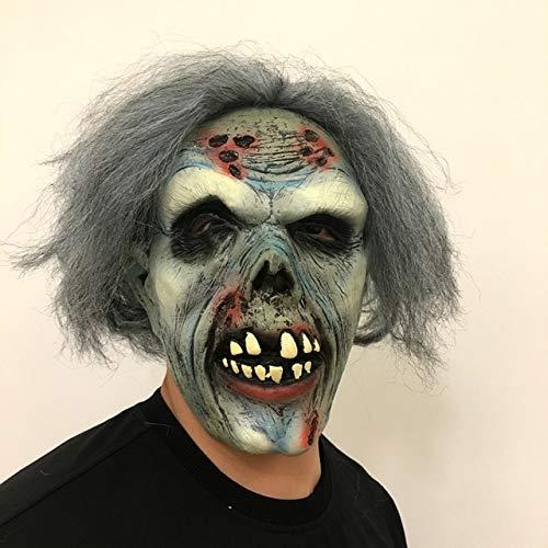 Kostüm Blue Group Mann - WSJDE Halloween Horror Clown Masken Männer und Frauen Gruselige Gesichter Hauszombies Erwachsene Zombies Death Party SuppliesHimmelblau