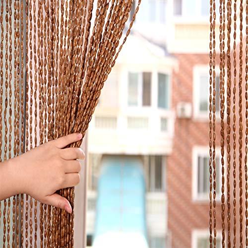 Aus holz perlen Tür vorhang Bildschirm,Hohe grade Vier jahreszeiten Champagner Dekorative Tür fadenvorhang Perlen Für hochzeit kaffee haus restaurant teilen-A 90x200cm(35x79inch) -