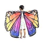 QinMM Kind Baby Mädchen Schmetterlingsflügel Pixie Poncho KostümzubehörVon (Heißes Rosa)