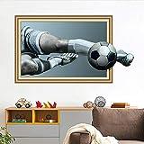 Football 3D Autocollants Muraux Pour Enfants Chambre Garçons Chambre Bar Club Stickers Muraux Eco amical Home Decor Art Mural