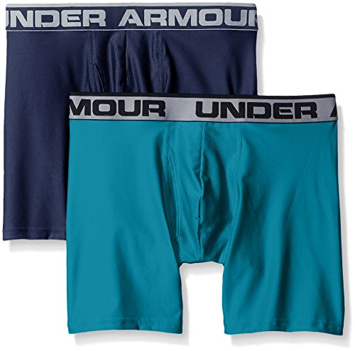 Under Armour Herren O Series 6 zoll BoxerJock 2 PK Midnight Navy/Turquoise Sky