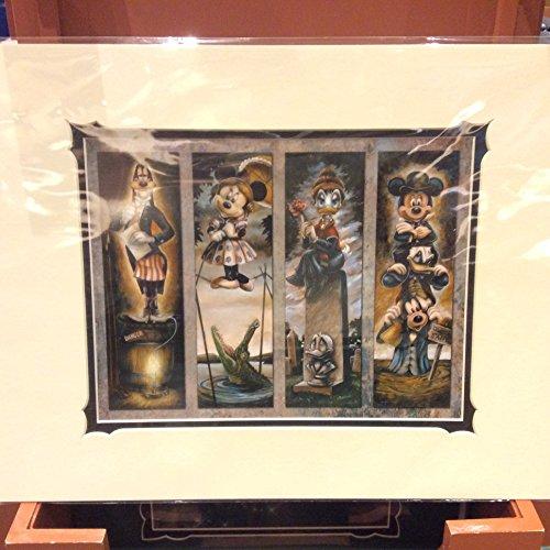 Disney Parks Haunted Mansion Stretch Malerei Zeichen Print -